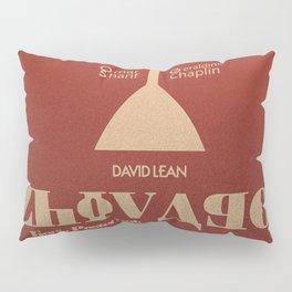 Doctor Zhivago, David Lean, Omar Sharif, Boris Pasternak book, minimalist movie poster, Russia film Pillow Sham