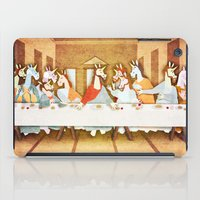 the last unicorn iPad Cases featuring Last Supper Unicorn by That's So Unicorny