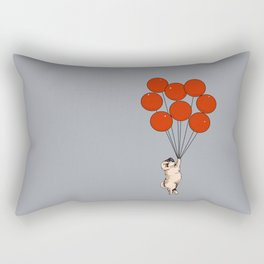 I Believe I Can Fly Pug Rectangular Pillow