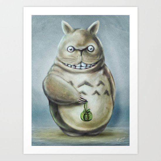 Miyazaki's Totoro - Totoros communis domestica Art Print