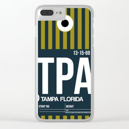 TPA Tampa Luggage Tag 2 Clear iPhone Case