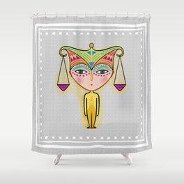 libra zodiac sign Shower Curtain