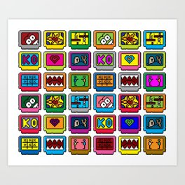 8-bit Game Cartridges Art Print