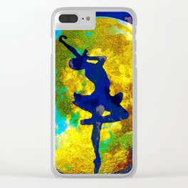 BALLET DANCER AND THE MOON Clear iPhone Case