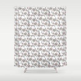 Pastel floral pattern Shower Curtain