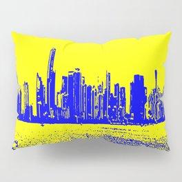 Miami yellow blue Pillow Sham