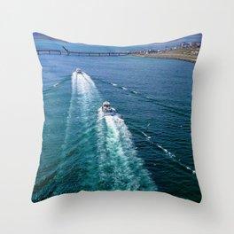 Sailing Through Throw Pillow