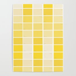 paintchips yellow Poster