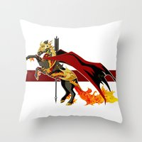 smaug Throw Pillows featuring Smaug by MarieJacquelyn