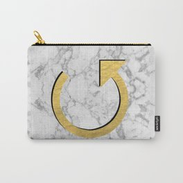 Redo - gold marble glitter shiny feminine masculine art print solid rock hipster gold foil design Carry-All Pouch