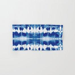 Shibori Tie Dye Indigo Blue Hand & Bath Towel