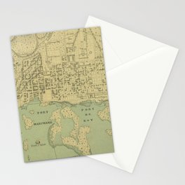 Vintage Map of Port Au Prince Haiti (1899) Stationery Cards