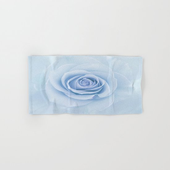 Soft Baby Blue Rose Abstract Hand & Bath Towel
