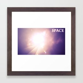 A space scene Framed Art Print