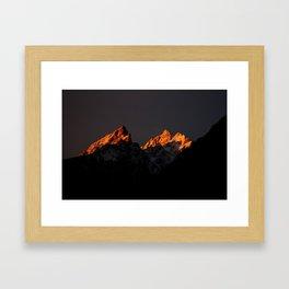 Good Morning Tetons Framed Art Print
