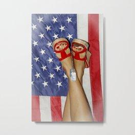 patriotic pin up Metal Print