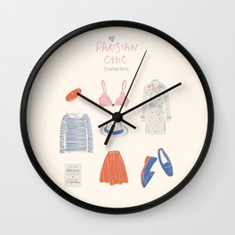 Parisian Chic: Starter Pack Wall Clock