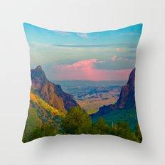 Chisos Mountain Park Big Bend Texas Throw Pillow