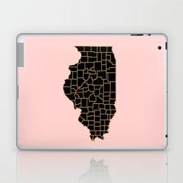 Illinois map Laptop & iPad Skin