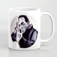 washington Mugs featuring Peter Washington by Zombie Rust