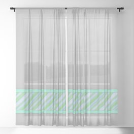 Single Stripe [mint] Sheer Curtain