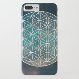 Mandala Flower of Life Rose Gold Space Stars iPhone Case
