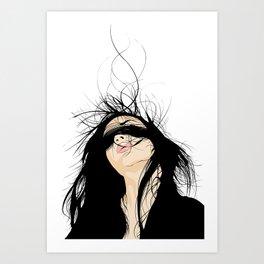 WILD HAIR Art Print