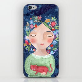 There are women that dreams with red cats iPhone Skin