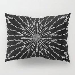 Shooting Star Black and White Kaleidoscope Pillow Sham