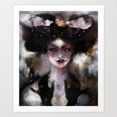 Veiled vamp Art Print