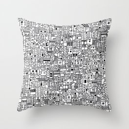 Marginal Landscape of Bogota´s Neighbourhood in Colombia Throw Pillow