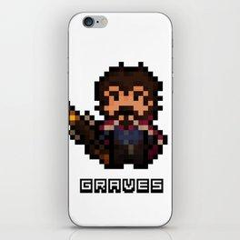 Graves, The Pixel Gunslinger iPhone Skin