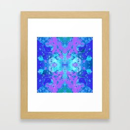 95 - Ice colour abstract pattern Framed Art Print