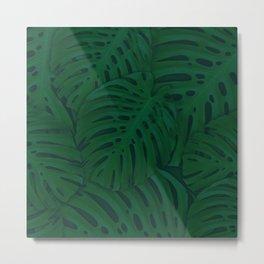 Green Monstera Plant Metal Print