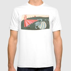 lust White SMALL Mens Fitted Tee