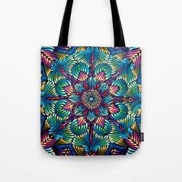 Kaleidoscopic Mandala Tote Bag
