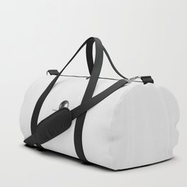 Perfect Black Pearl on white satin background Duffle Bag