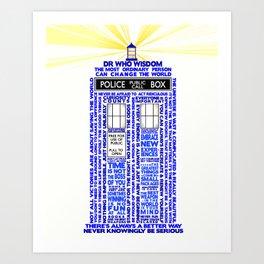 Doctor Who TARDIS Words of Wisdom Art Print