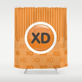 Orange Writer's Mood Shower Curtain