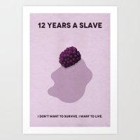 12 Years A Slave Minimalist Poster Art Print