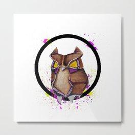 Paper Owl- Wild World Of Paper Metal Print