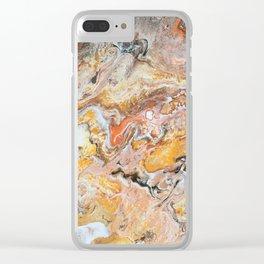 Orange Cream Pour Clear iPhone Case