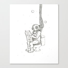 Diver Poop Canvas Print