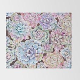 succulent allover Throw Blanket