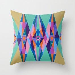 Sacred Geometric Triad Throw Pillow