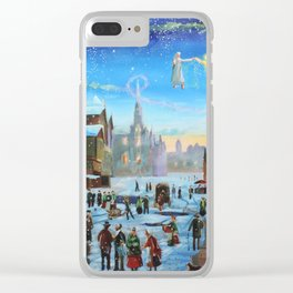 """A Christmas Carol """"Scrooge and the ghost of Christmas past"""" Clear iPhone Case"""
