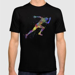 Man running sprinting jogging T-shirt