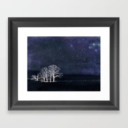 The Fabric of Space and the Boundary of Knowledge Framed Art Print