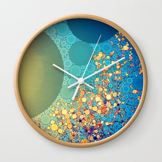 Sky and Leaves Wall Clock