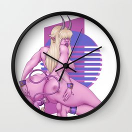 Veris Masturbating Wall Clock